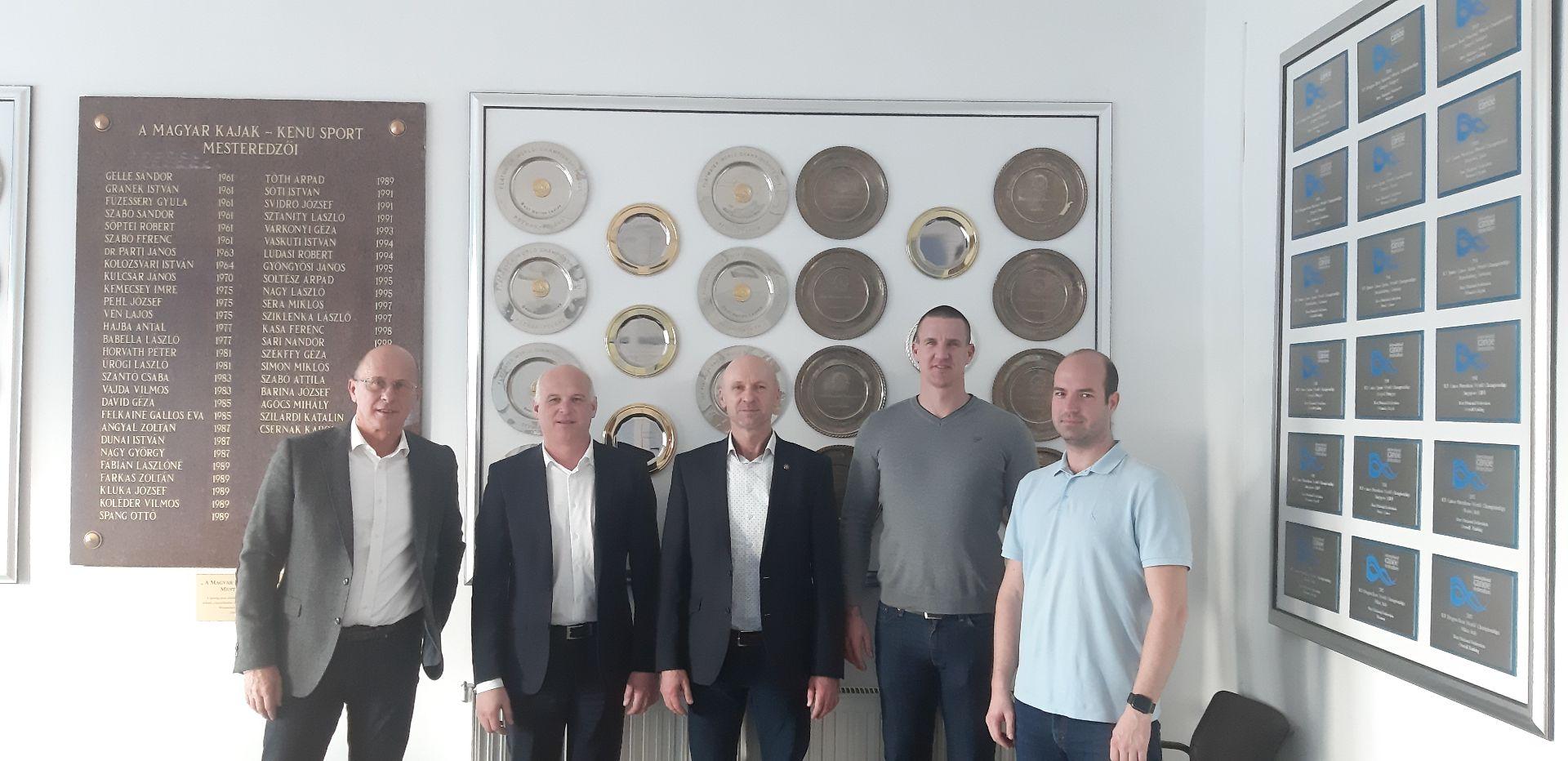 Kapcsolat felvétel, egyeztető megbeszélés a Magyar Kajak-kenu Szövetség és a SIOSZ vezetőinek részvételével